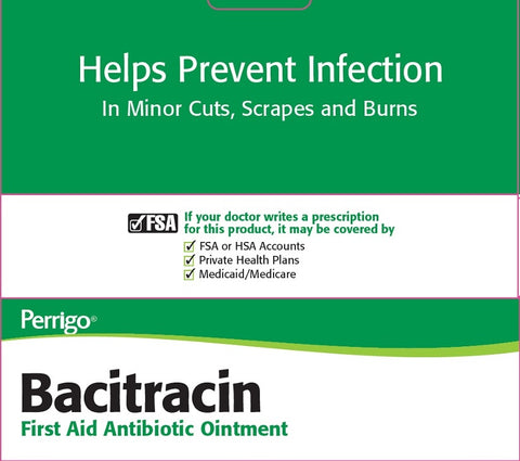Perrigo Bacitracin FirstAid Antibiotic Ointment, 0.5oz 045802060012A136