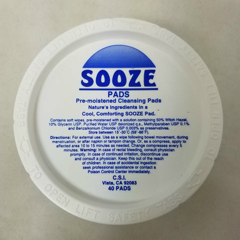 CSI Sooze Pads, Cleansing Pads, 40ct 337379020002S210