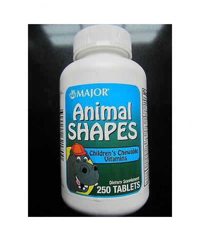 Major Animal Shapes Multivitamin Chewables, 250ct 309042621700A411