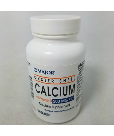 Major Oyster Shell Calcium w/Vitamin D Tablets, 150ct 309041885929A255