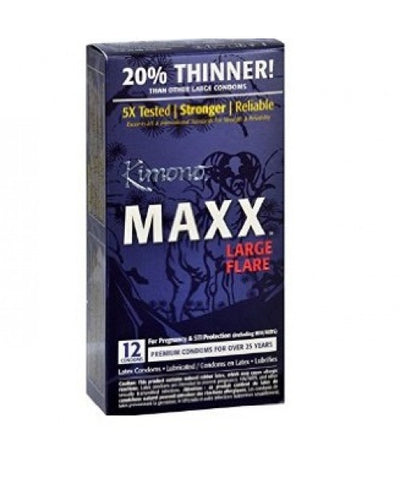 Kimono MAXX Large Latex Condoms, 12ct 016169030123A808