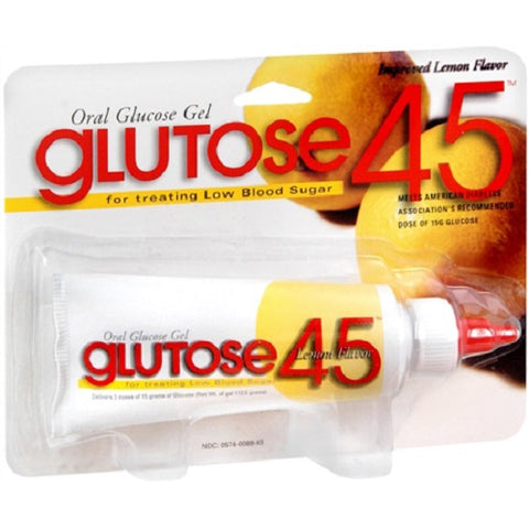 Glutose 45 Glucose Gel 40%, Lemon, 112.5gm 305740069455S1049