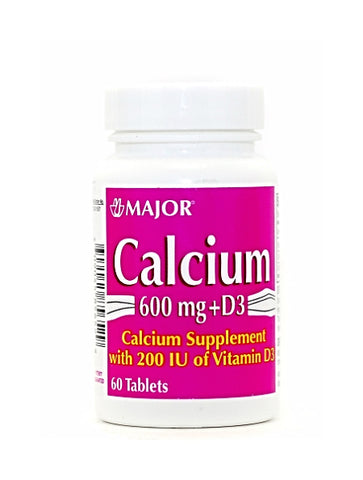 Major Calcium Carbonate w/Vitamin D3 Tablets, 60ct 009043233529A119