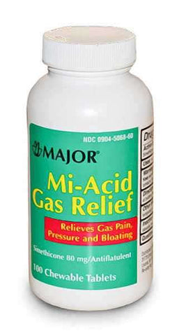 Major Mi-Acid Gas Chewables, 80mg, 100ct 009045068600A190