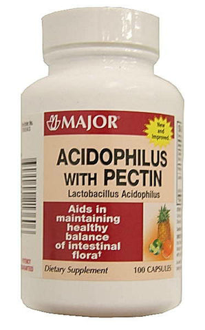 Major Acidophilus with Pectic Capsules, 100ct 009044213605A153