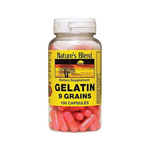 Nature's Blend Gelatin 9 Grain Capsules, 100ct 079854600056S467