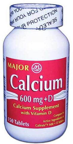 Major Calcium w/Vitamin D Tablets, 150ct 009043233925A250