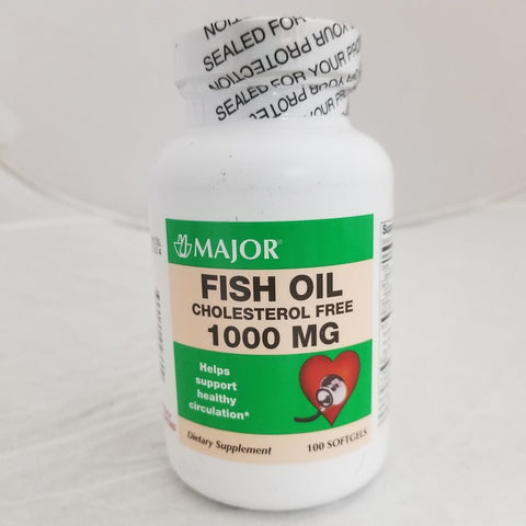 Major Fish Oil Softgels, 1000mg, 100ct 309044043609G424