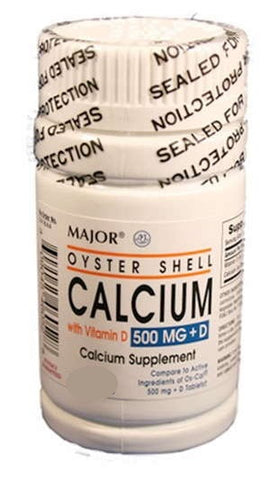 Major Oyster Shell Calcium w/ Vit D Tablets, 300ct 009045460725M419