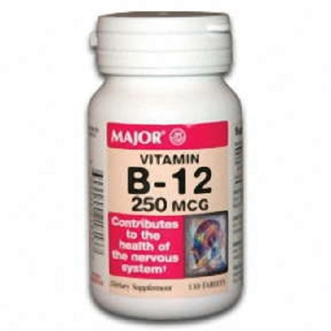 Major Vitamin B-12 250mcg Tablets, 130ct 009044218136M177
