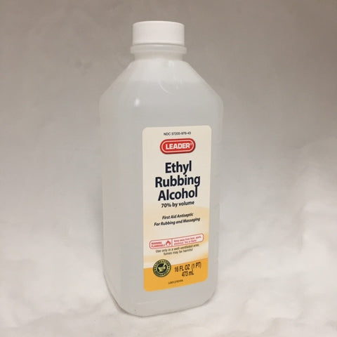Leader Ethyl Rubbing Alcohol 70%, 16oz 096295104929A156