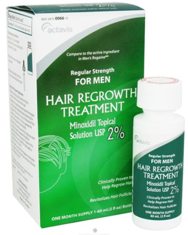 Actavis Hair Regrowth Treatment for Men, 2%, 2oz 304720066736J517
