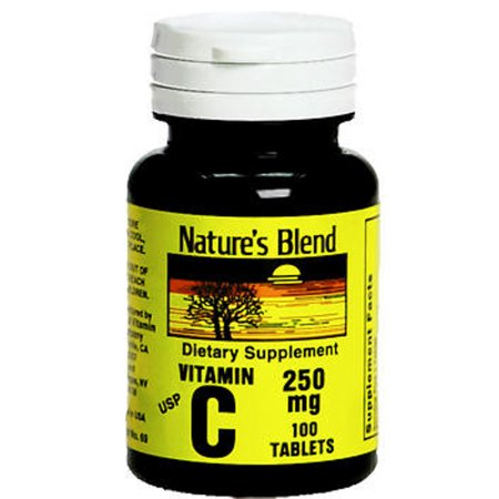 Nature's Blend Vitamin C 250mg Tablets, 100ct 079854300154S254