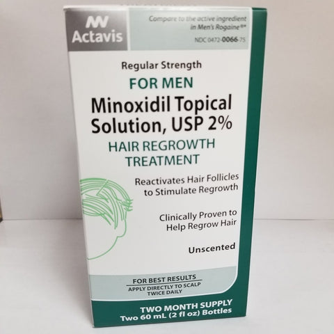 Actavis Hair Regrowth Treatment 2% for Men w/Dropper 004720066759A795