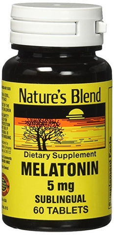 Nature's Blend Melatonin Sublingual 5mg Tablets, 60ct 079854006155T599