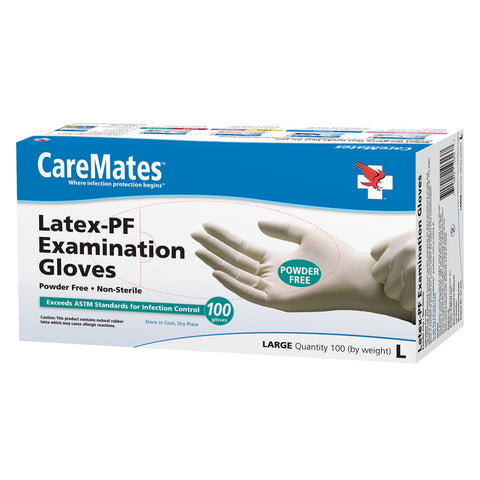 CareMates Latex-PF Powder Free Gloves, Large, 100ct 715912103137A1071