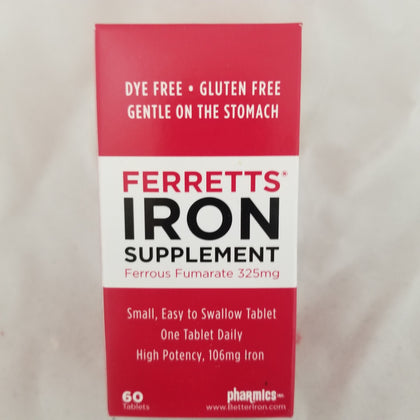 Ferretts Iron Supplement 325mg Tablets, 60ct 008130012061S778