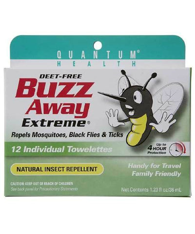 Buzz Away Extreme Insect Repellent Towelettes, 12ct 046985071024A573