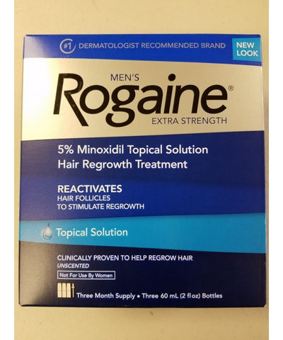 Men's Rogaine Extra Strength Hair Treatment, 3-60mL 312547700603T4162