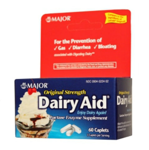 Major Dairy Aid Caplets, Original Strength, 60ct 009045224525A425
