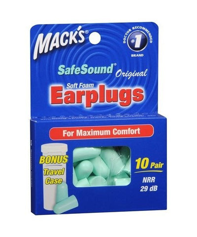 Mack's Original Soft Foam Earplugs, 10pr 033732000093T190