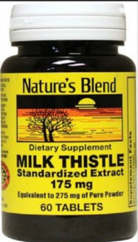 Nature's Blend Milk Thistle Tablets, 175mg, 60ct 079854014518A617