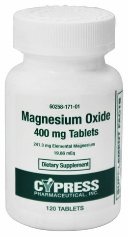 Cypress Magnesium Oxide 400mg, Tablets, 120ct 360258171014S281