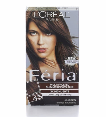 L'Oreal Feria MultiFaceted, 45 Deep Bronzed Brown, 1ct 071249230336T755