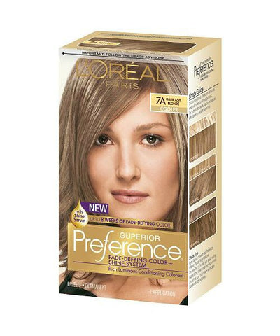 L'Oreal Superior Preference Kit, 7A Dark Ash Blonde 071249253151A755