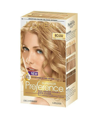 L'Oreal Paris Superior Preference Kit 8G Golden Blonde 071249253229T755
