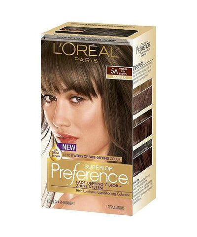 L'Oreal Paris Superior Kit, 5A Medium Auburn 071249253076A755