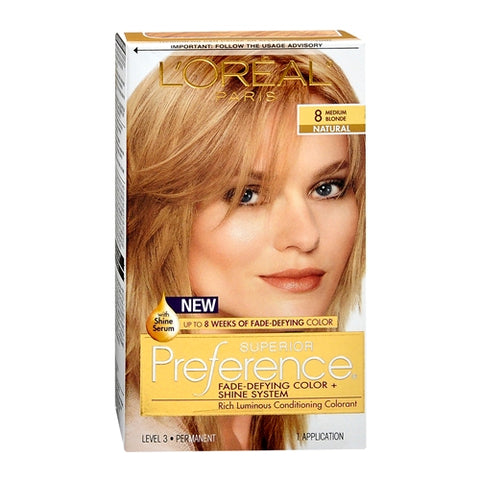 L'Oreal Superior Preference - 8 Medium Blonde, 1ct 071249253199T755