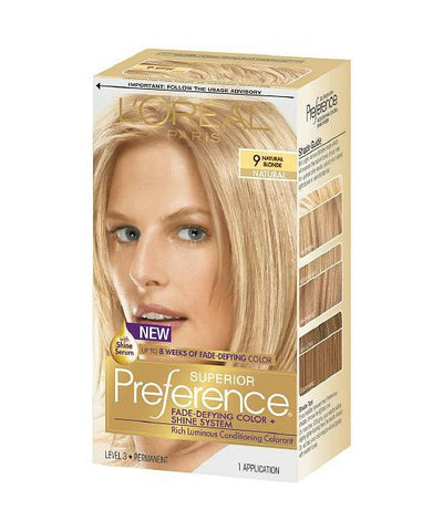 L'Oreal Paris Superior Kit, 9 Natural Blonde 071249253243A755