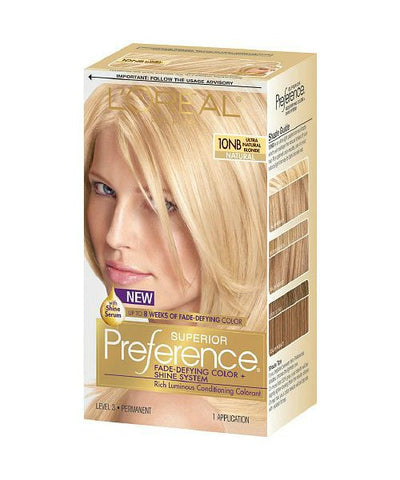 L'Oreal Superior Preference, 10 Ultra Natural Blonde 071249253342A755
