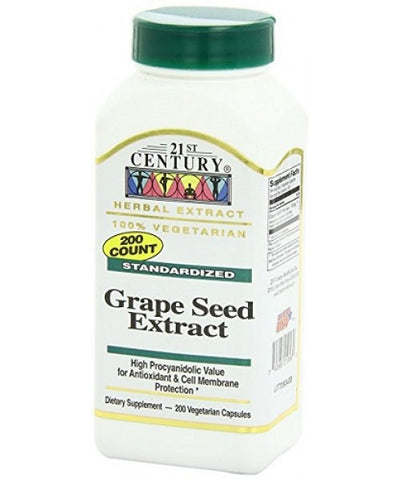21st Century Grape Seed Extract, VCaps, 200ct 740985219560S643