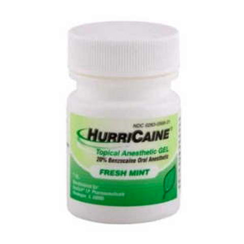 HurriCaine 20% Benzocaine Oral Gel, Mint, 1oz 002830098318T703