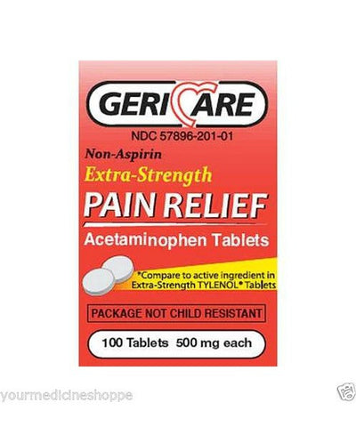 Acetaminophen Extra Strength Caplets, 500mg, 100ct 578960221013A118