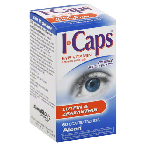 I-Caps Lutein & Zeaxanthin Coated Tablets, 60ct 731928040082A1081
