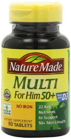 Nature Made Multi for Him 50+ Tablets, 90ct 031604017903A667