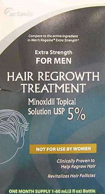 Actavis Men's Ex-Strength Hair Regrowth Treatment, 2oz 004720094738T731