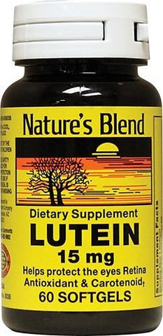 Nature's Blend Lutein 15mg, Capsules, 60ct 079854080360A947