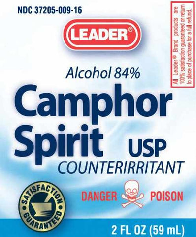 Leader Camphor Spirit USP 84% Alcohol, 2oz 096295110074A203
