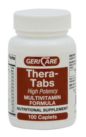 GeriCare Thera-Tablets Multivitamin Caplets, 100ct 578960601013A234