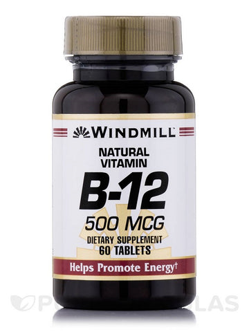 Windmill Vitamin B-12 500mcg, Tablets, 60ct 035046001292S277