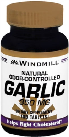 Windmill Odor Controlled Garlic Tablets, 100ct 035046002763S556