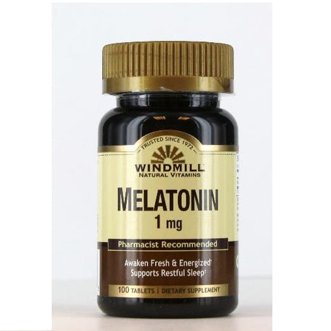 Windmill Melatonin Tablets, 1mg, 100ct 035046003913A288