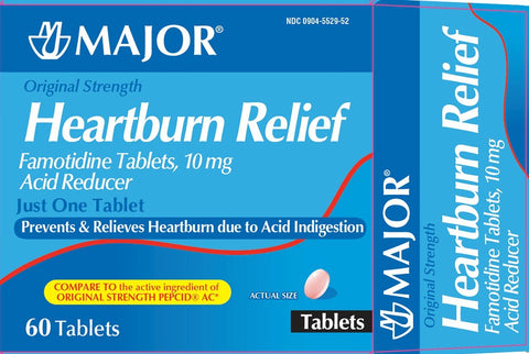 Major Heartburn Relief Tablets, 10mg, 60ct 009045529521A443