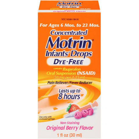 Infants Motrin Ibuprofen Oral Susp, Berry, 1oz 300450198013T753