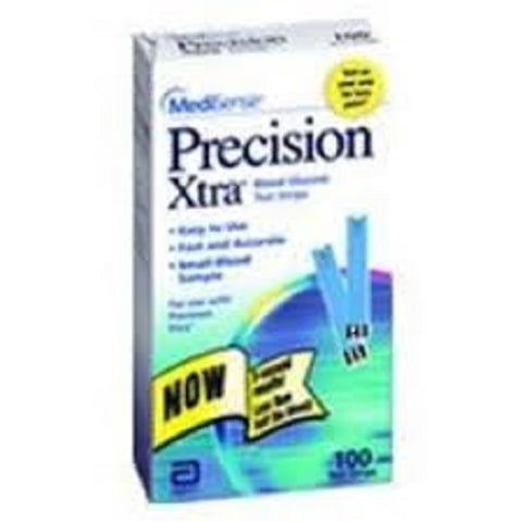 Precision Xtra Blood Glucose Test Strips, 100ct 093815998778S14169