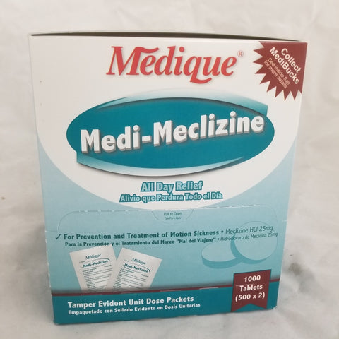 Medique Medi-Meclizine 25mg Tablets, 1000ct 476820479157S4600